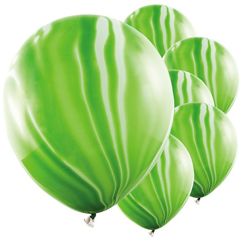 Marble Coloured Latex Balloons Green
