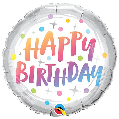 Happy Birthday Rainbow Dots Balloon
