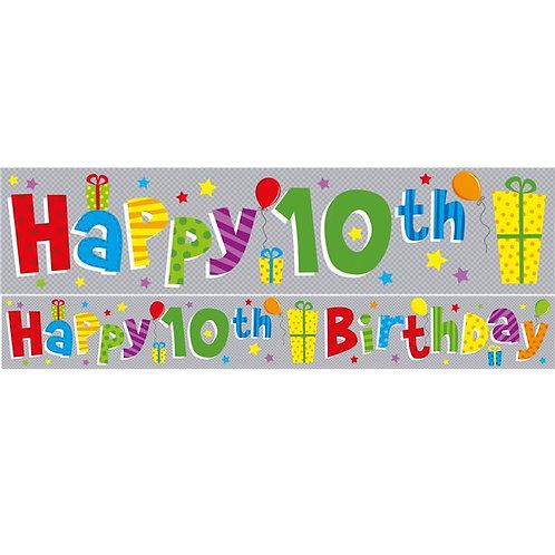 10th Birthday Foil Birthday Banner