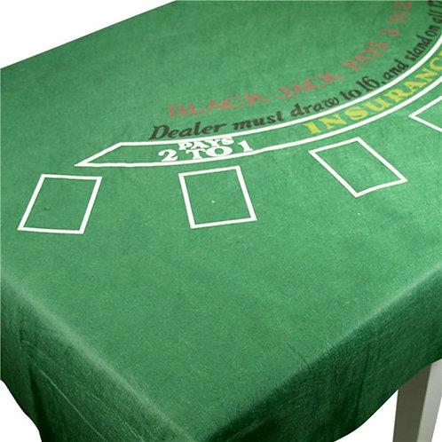 Casino Party Night Blackjack Felt Tablecover