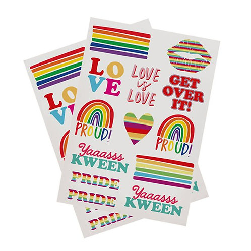 Pride Tattoo Sheets