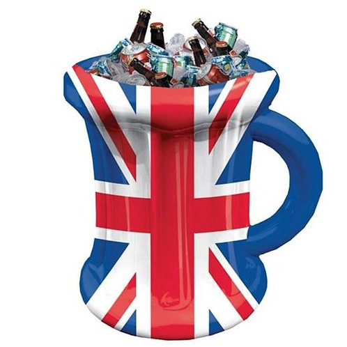 Union Jack Inflatable Mug Cooler