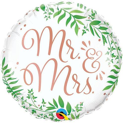 Mr & Mrs Elegant Foil Balloon