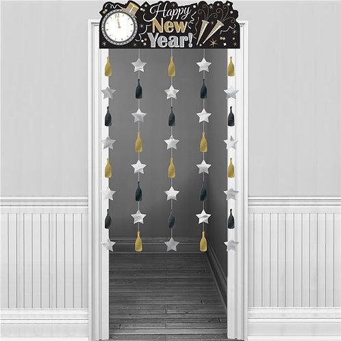 Happy New Year's Eve Door Curtain