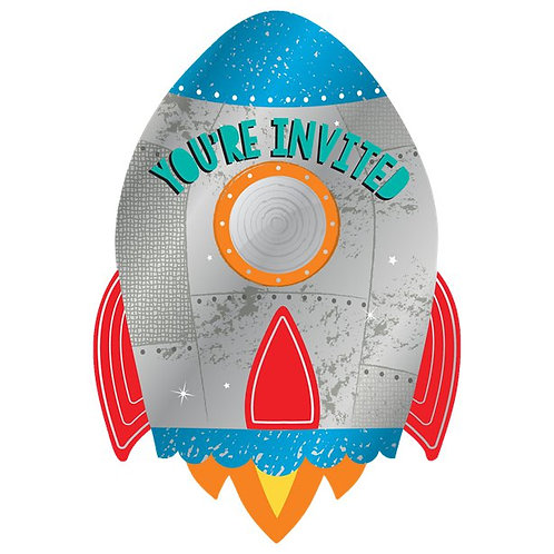 Rocket Party Invitations