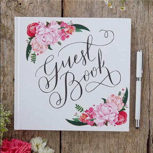 Wedding Floral Guest Book