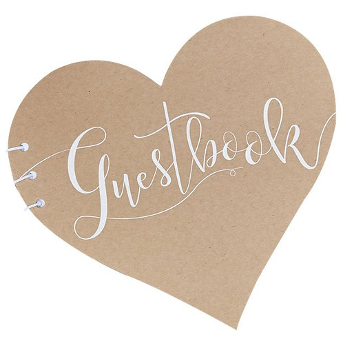 Rustic Country Heart Guestbook