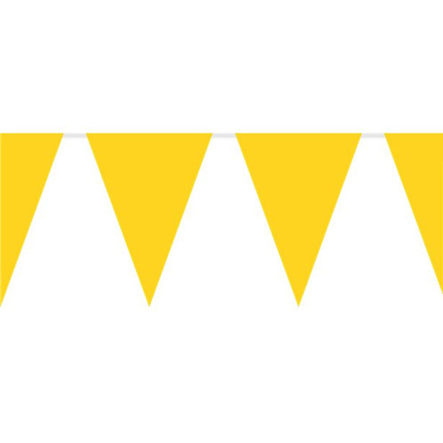 Yellow Plastic Party Bunting