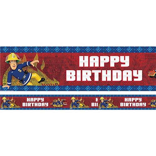 Fireman Sam Happy Birthday Foil Banner