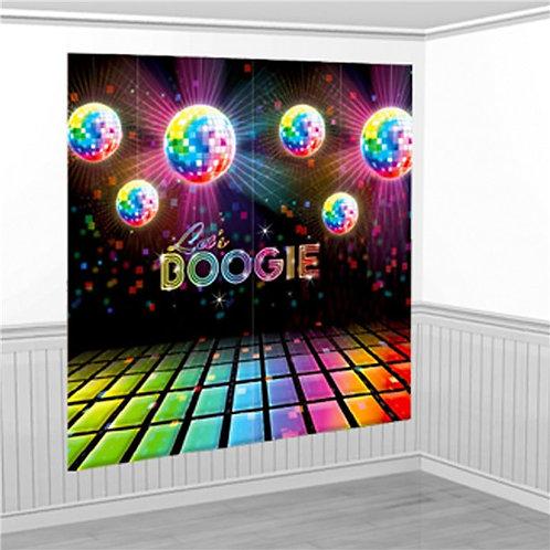 Disco Fever Scene Setter Wall Decorating Kit