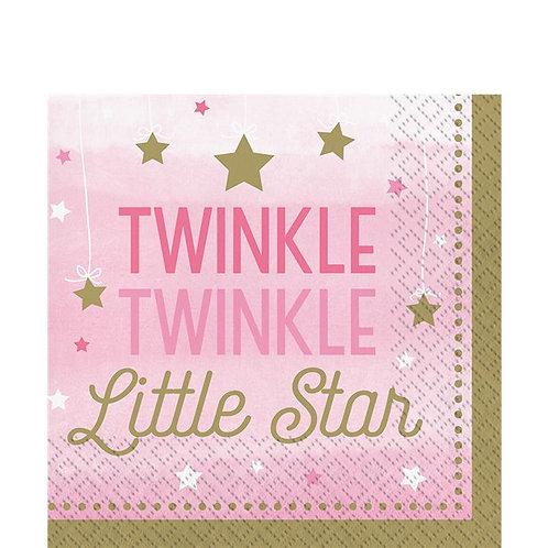 Twinkle Little Star Pink Napkins