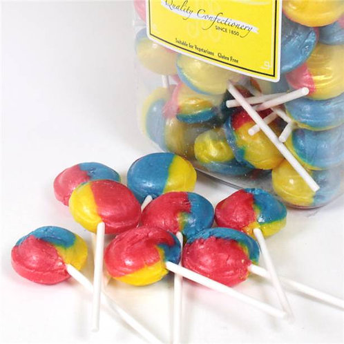 Tutti Frutti Rainbow Flavoured Lollies