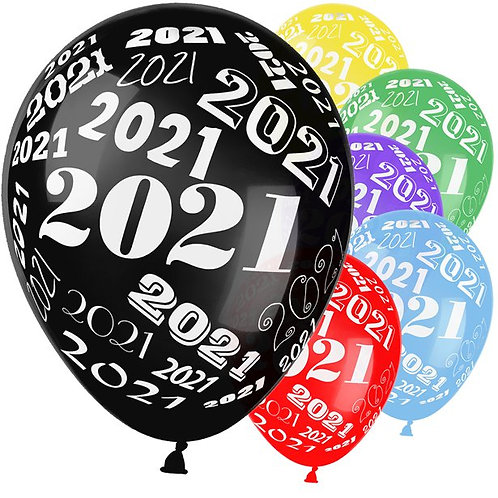 New Year 2021 Assorted Balloons