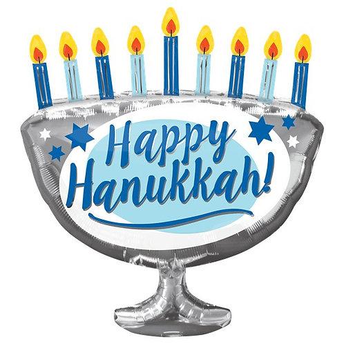 Happy Hanukkah Menorah Foil Balloon