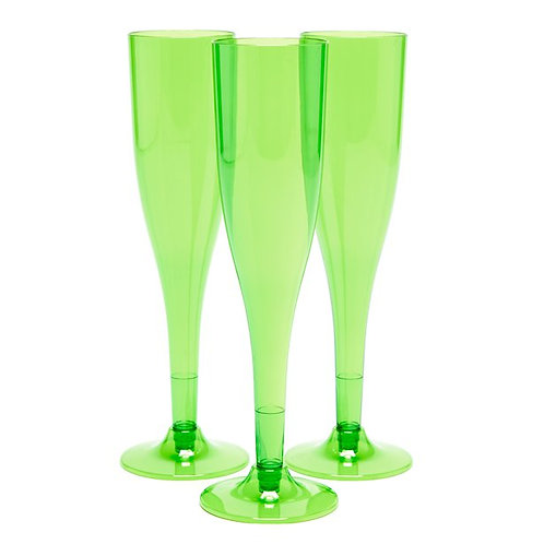 Lime Green Champagne Flutes