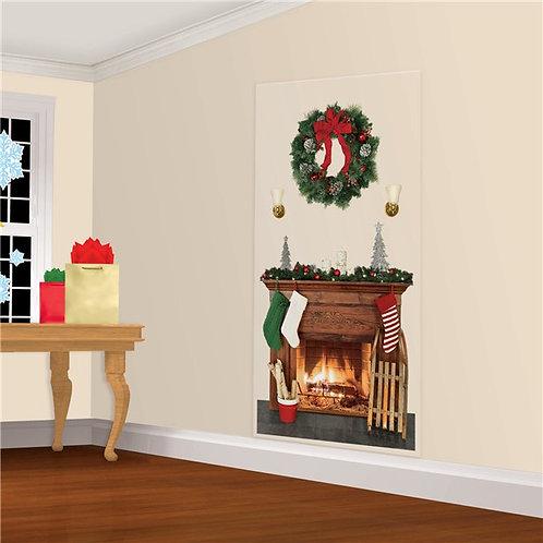 Christmas Fireplace Scene Setter
