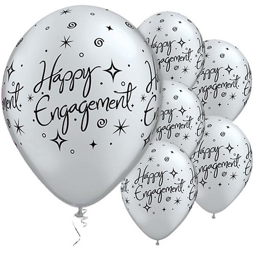 Happy Engagement Elegant Balloons