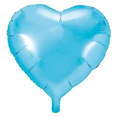 Sky Blue Heart Foil Balloon