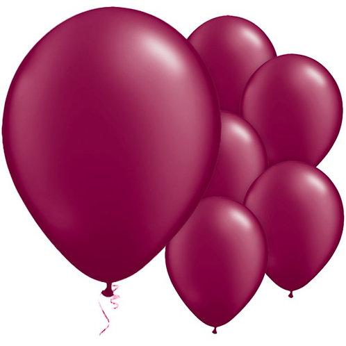 "Burgundy Balloons Size 11"""