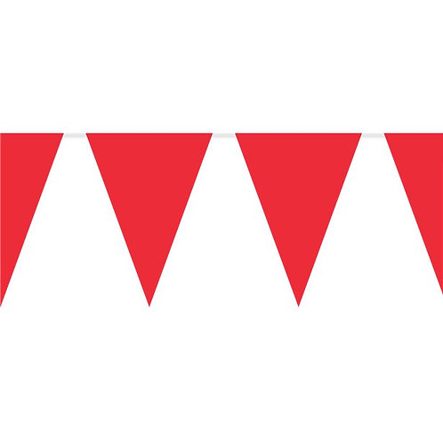 Red Plastic Party Bunting
