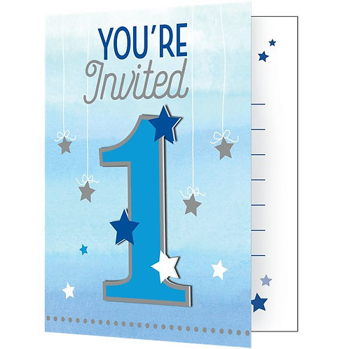 1st Birthday Boy Invites - Party Invitation Cards