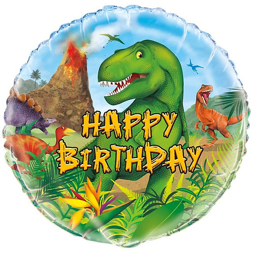 "Dinosaur Birthday 18"" Foil Balloon"