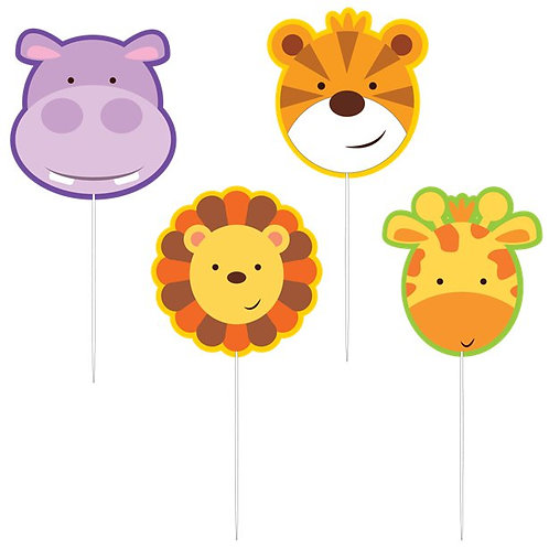 Animal Friends Cake Pick Candles