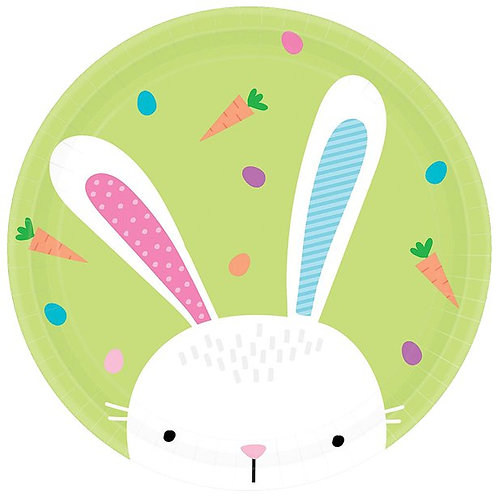 Hello Bunny Paper Plates
