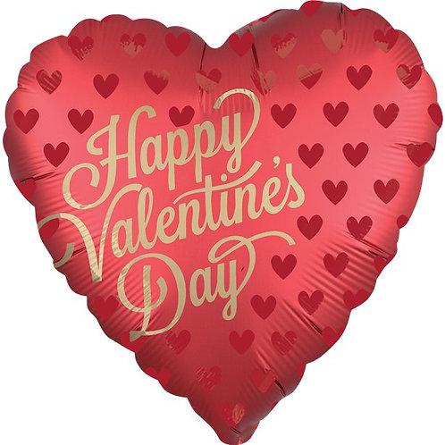 Satin Heart Sangria Balloon