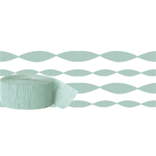 Mint Green Crepe Paper Streamer