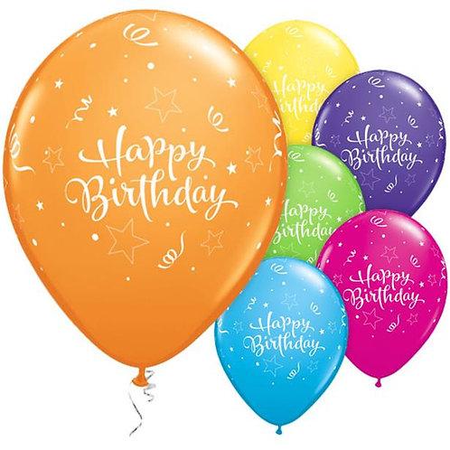 Happy Birthday Mixed Balloons