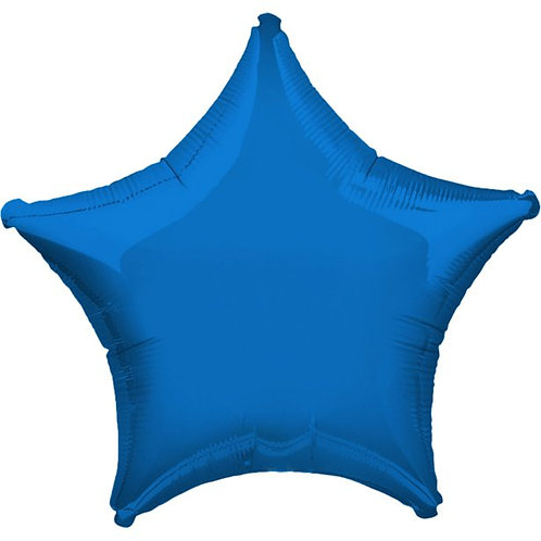 Metallic Blue Star Balloon
