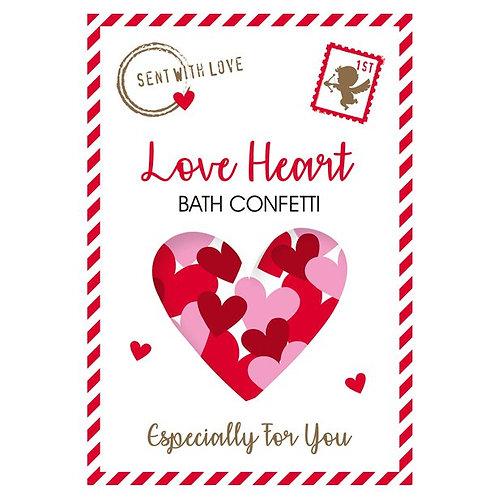 Love Heart Bath Confetti