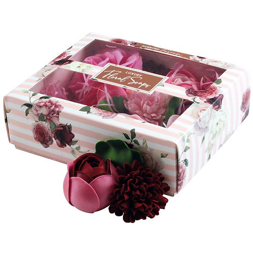 Boxed Scented Pink Floral Soaps