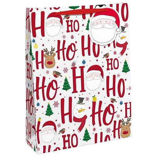 Ho Ho Double Bottle Gift Bag