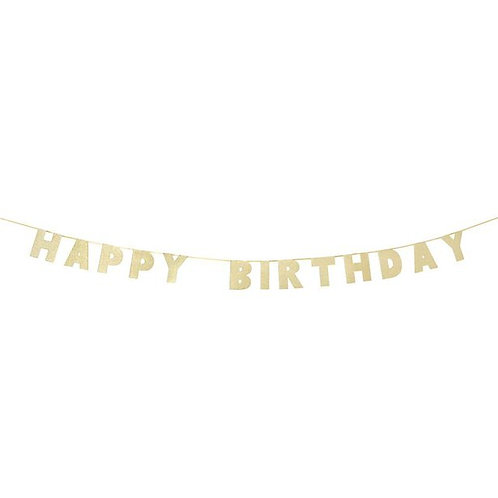 Happy Birthday Luxe Gold Letter Banner