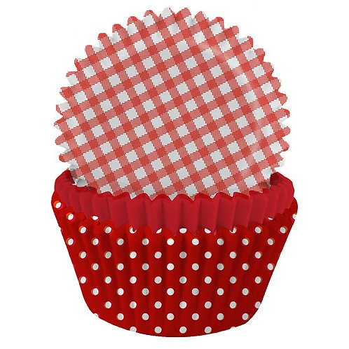 Red Gingham & Polka Dot Cupcake Cases