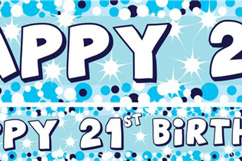 21st Blue Paper Banners