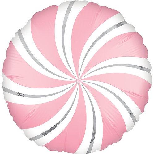 Pink Candy Swirl Foil Balloon
