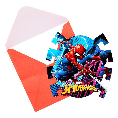 Children's Party Spiderman Party Invitations