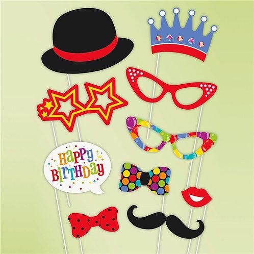 Confetti Birthday Photo Booth props