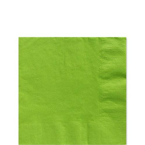 Lime Green Paper Napkins Size 25cm