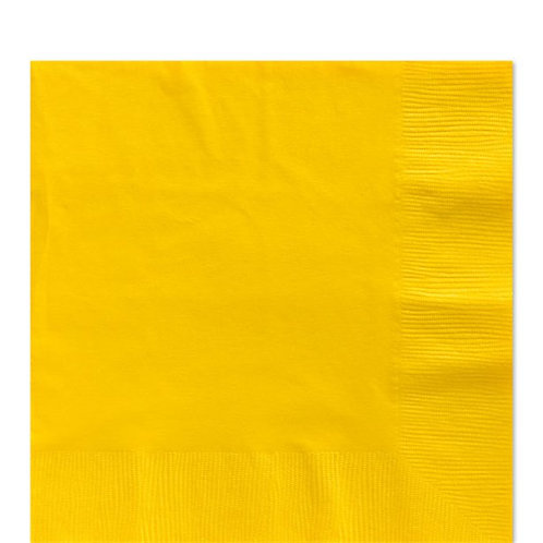 Yellow Party Napkins Size 33cm