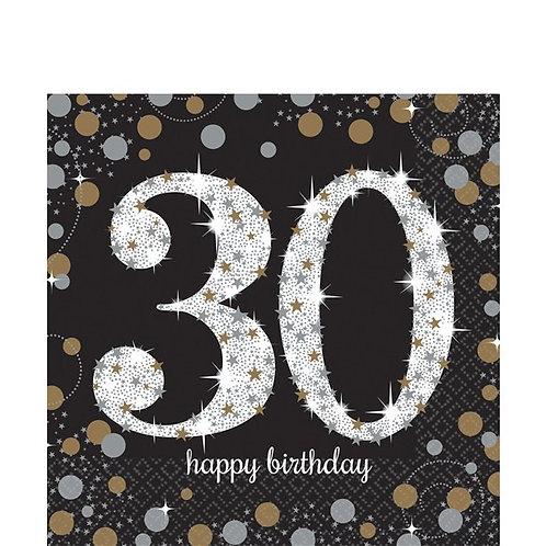 30th Birthday Gold Celebration Party Napkins