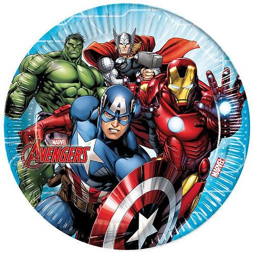Mighty Avengers Party Paper Plates