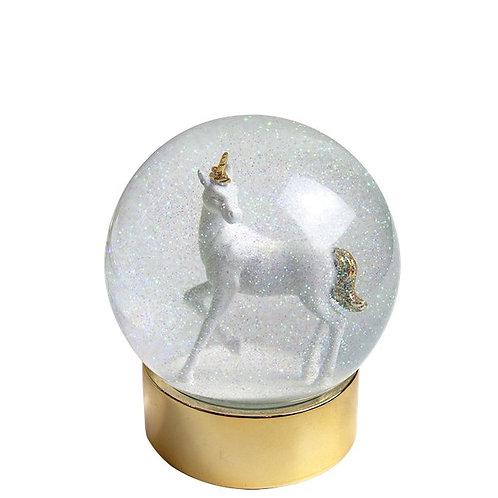 Christmas Unicorn Snow Globe