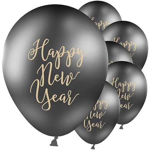 New Year Black & Gold Balloons
