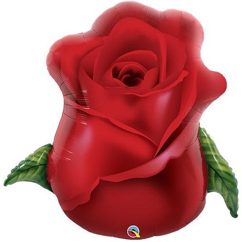 Red Rose Bud Foil Balloon