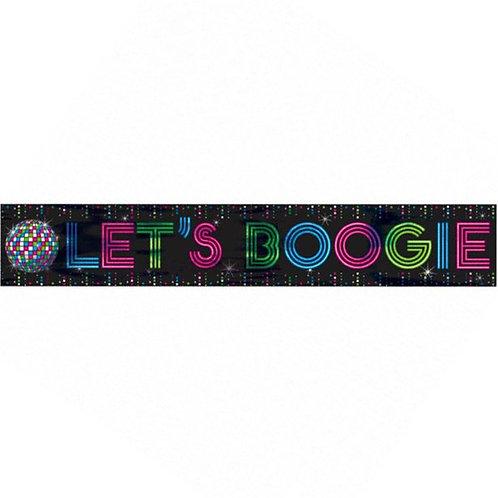 Lets Boogie 1970's Disco Fever Foil Banner