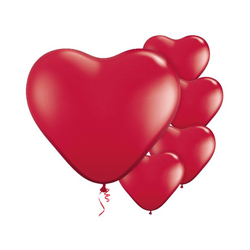 Ruby Red Heart Shape Balloons